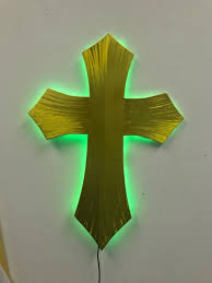 church crosses led church cross lighted cross and lighted crosses in brushed