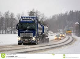 volvo new truck new volvo fh tank truck on foggy day editorial stock image image