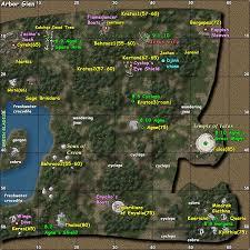 map of arbor arbor glen zones age of camelot zam