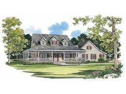 farmhouse plans with wrap around porches picturesque porch hwbdo02244 farmhouse home plans from