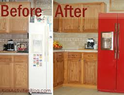 Gel Stain Kitchen Cabinets Before After Kitchen Transformation