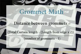 Curtain Size Calculator Decorating The Dorchester Way Using Grommet Math To Add Grommets