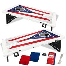 Ohios State Flag Ohio State Flag Heritage Edition Bean Bag Toss Game By Baggo