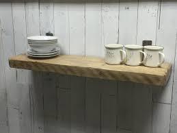 reclaimed rustic vintage industrial wall mounted shelf floating