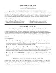 Occupational Health And Safety Resume Examples by Download City Traffic Engineer Sample Resume