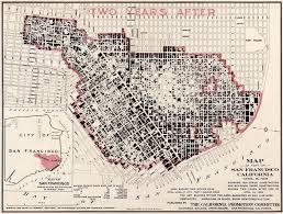 Map Of California Fires San Francisco California Fire Damage 1908