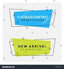 set trendy flat geometric vector banners stock vector 605060825