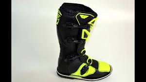 leather motocross boots 2016 fly racing maverik mx boots black hi viz youtube