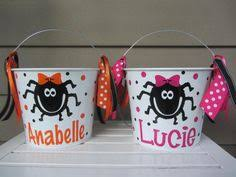 personalized halloween bucket pail witch feet by dotteddesigns