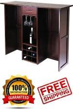 Folding Home Bar Cabinet Wooden Portable Folding Home Pubs Bars Ebay