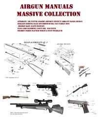 anschutz air rifle gun pistol owners manuals gun manual u0027s online