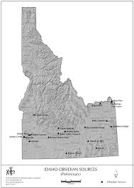 Map Of Idaho And Utah by Obsidian Source Maps United States