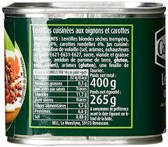 comment cuisiner des lentilles en boite cassegrain lentilles cuisinées la boîte de 400 g amazon fr