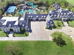 House With A Moat 32m Texas Mansion Has Waterpark In Ground Trampoline In Backyard