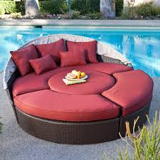 Round Sectional Patio Furniture - belham living rendezvous all weather wicker sectional daybed