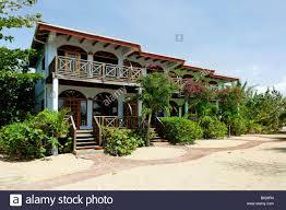 row of bungalows hamanasi hotel hopkins dangria belize