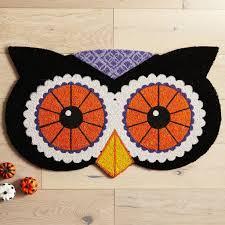 halloween owl funny halloween doormats popsugar home