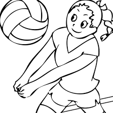 coloring pages volleyball glum