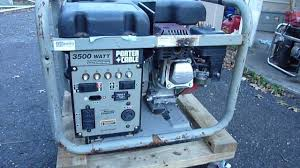 porter cable 3500 watt generator youtube