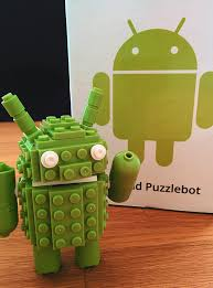 android bot an android puzzlebot made of legos