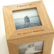 personalized wooden keepsake box personalised oak photo cube keepsake box by thelittleboysroom