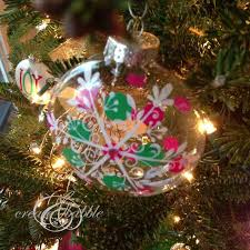 how to make glittery ornaments create and babble