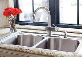 brushed nickel faucet with stainless steel sink kitchen marvellous undermount kitchen sinks lowes bathroom sinks