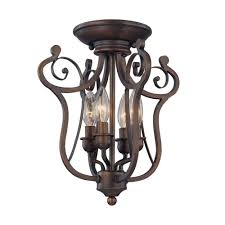 home depot indoor lighting millennium lighting 4 light rubbed bronze candle semi flush mount