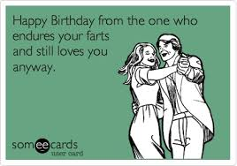 birthday ecard happy birthday from the one who endures your