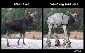 Moose Meme - my dad thinks the moose look like walkers by ohmahstarz meme center