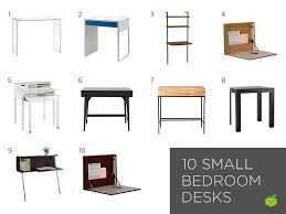 Small Desks For Bedrooms Bedroom Desk For Small Bedroom Spaces Office Computer Space