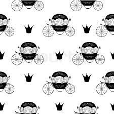 princess cinderella fairytale carriage seamless pattern