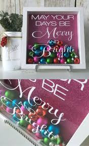 shadow box may your days be merry and bright ornament
