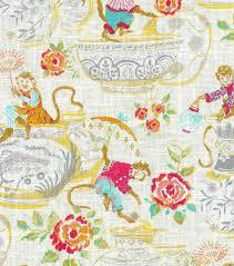 Home Upholstery Dena Home Upholstery Fabric Monkey Jars Blossom David