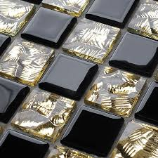 Gold Items Crystal Glass Mosaic Tile Wall Backsplashes by Crystal Glass Backsplash Kitchen Tile Mosaic Art Mirrored Wall