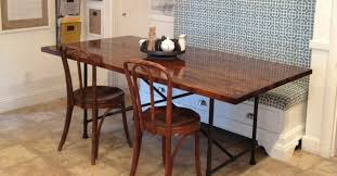 rustic industrial butcher block table with metal base ikea
