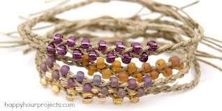 bead braid bracelet images Braided bead and hemp bracelets happy hour projects jpg