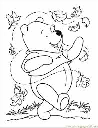 leaves printable az coloring pages winnie the pooh thanksgiving