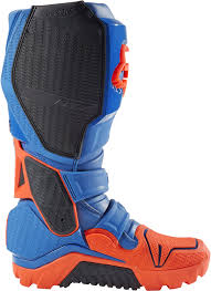used motocross boots fox instinct offroad enduro motocross boots navy blue orange