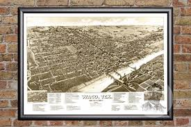 map waco waco tx historical map 1886 ted s vintage