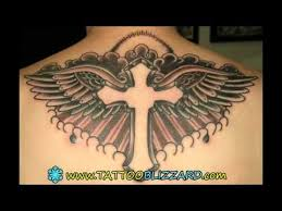 cross tattoo on chest youtube