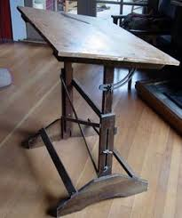 Vintage Drafting Table Antique Cast Iron Industrial Drafting Table Industrial Drafting