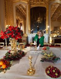 the state dining room is prepared for festive victorian dessert