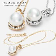 brand new pearl necklace images Neoglory rhinestone simulated pearl pendant necklaces charm women jpg