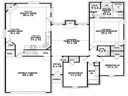 Bath Floor Plans 56 3 Bedroom 2 Bath House Plans 1 Level One Story House Plans 3
