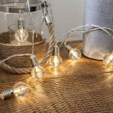 mini festoon string lights battery operated clear bulb 10