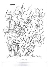 59 flower fairy alphabet images fairy coloring
