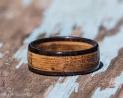 mens wedding bands wood mens wood ring etsy