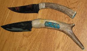 obsidian kitchen knives finished a couple of obsidian knives today rock tumbling hobby