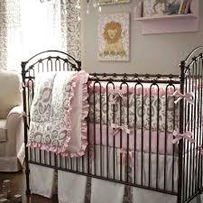 Cheetah Print Crib Bedding Decoration Animal Print Nursery Bedding Baby Zebra Crib Pink